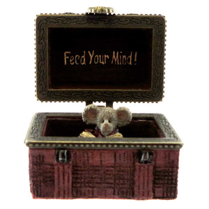 Boyds Bears Resin Matthew's Lunchbox With Crumb Treasure Box