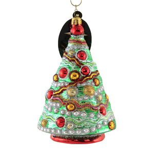 Christopher Radko Ric Rac Wrap Glass Ornament