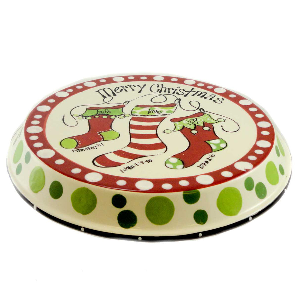 Tabletop Chip And Dip Christmas P Late Christmas Tabletop