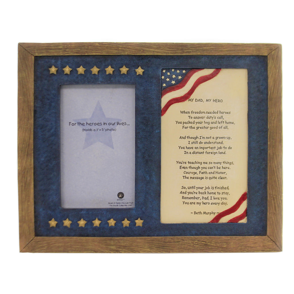 My Dad, My Hero Frame 27328 Rfb Boyds Bears Resin Frames - SBKGIFTS.COM - SBK Gifts Christmas Shop Cincinnati - Story Book Kids
