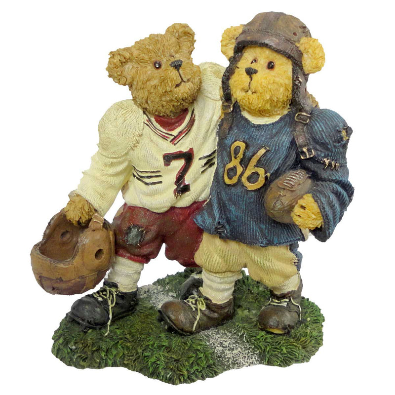 Boyds Bears Resin Block & Tackle Sideline Budd Figurine