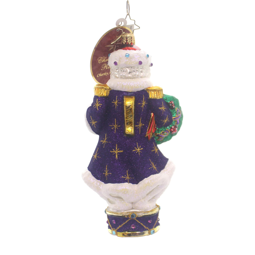 Christopher Radko Standing For A Cause Glass Ornament