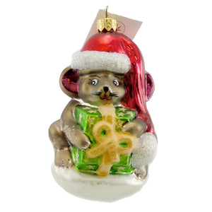 Christopher Radko Mouse Wrap Glass Ornament