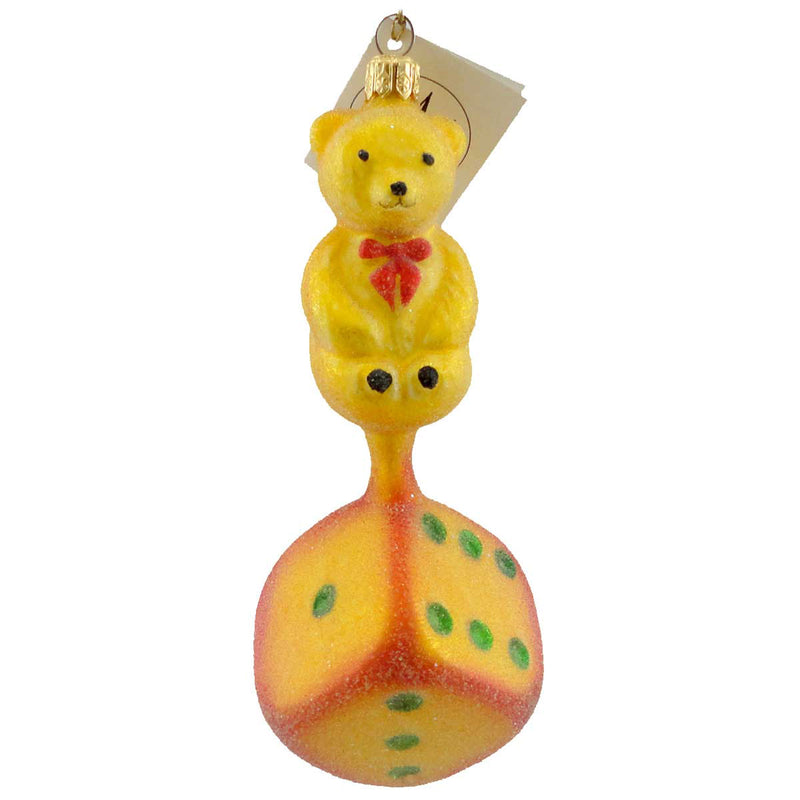 Christopher Radko Lucky Ted Glass Ornament