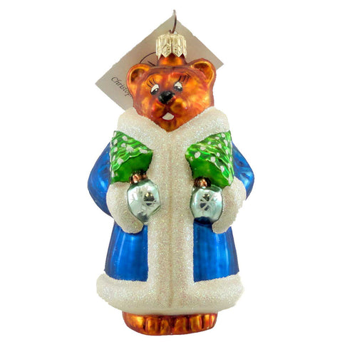 Christopher Radko Beary Chic Glass Ornament 1918