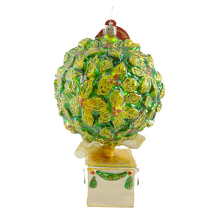 Christopher Radko Very Merry Topiary Glass Ornament
