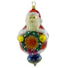 Polonaise Ornaments Reflector Santa Glass Ornament