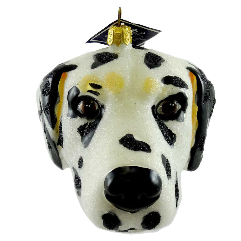 Slavic Treasures Ornament Dalmatian Head Glass Ornament