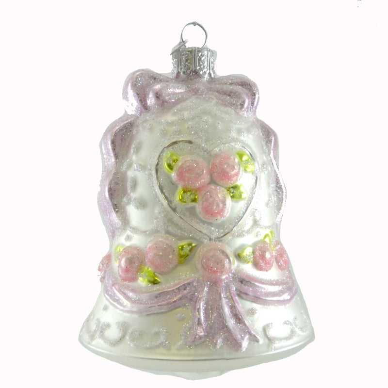 Noble Gems Wedding Bell Glass Ornament