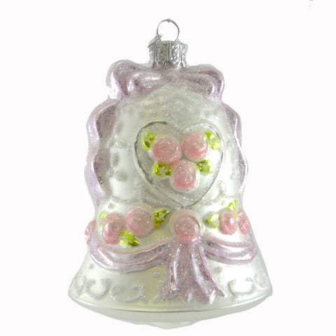 Noble Gems Wedding Bell Glass Ornament 19567