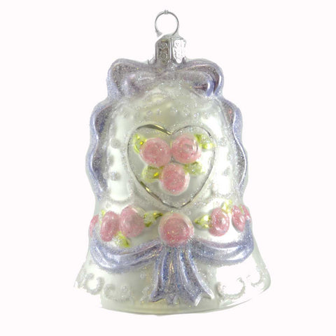 Noble Gems Wedding Bell Glass Ornament 19568