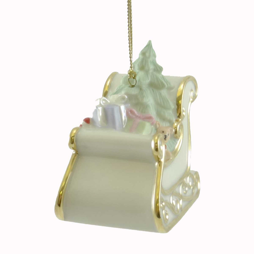 Holiday Ornament Sleigh Porcelain Ornament