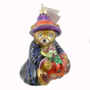 Christopher Radko Bearwitched Halloween Glass Ornament