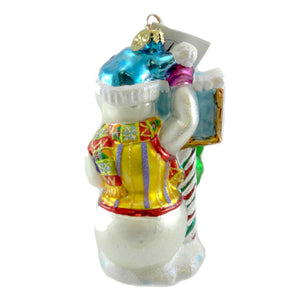 Christopher Radko Frosty Welcome Glass Ornament