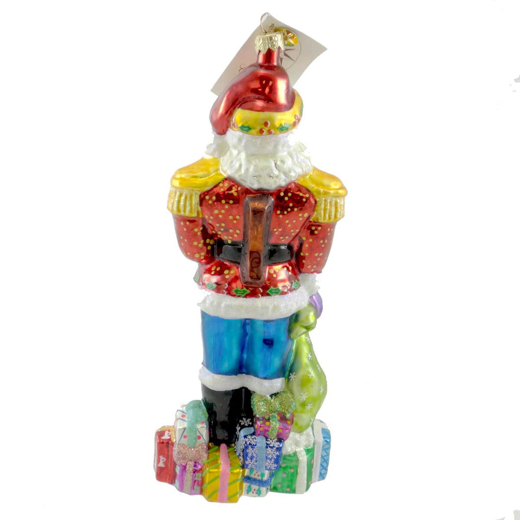 Christopher Radko St Cracker Claus Glass Ornament
