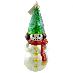 Christopher Radko Frosty Conehead Glass Ornament