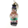 Christopher Radko A Fine Snowmance Glass Ornament