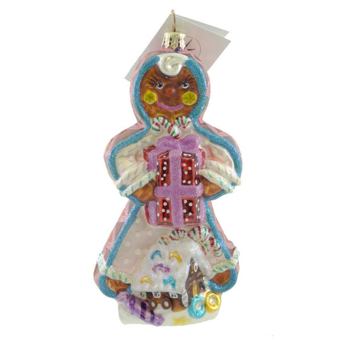 Christopher Radko GINGERBREAD CURL Glass Ornament House Girl Christmas 20132
