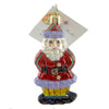 Christopher Radko Ginger Snap Santa Gem Glass Ornament