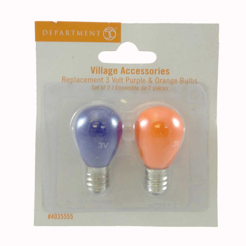 Dept 56 Accessories Replacement 3V Purple Orange Village Replacement Bulbs