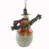 Jim Shore Snowman Holding Evergreen Resin Ornament