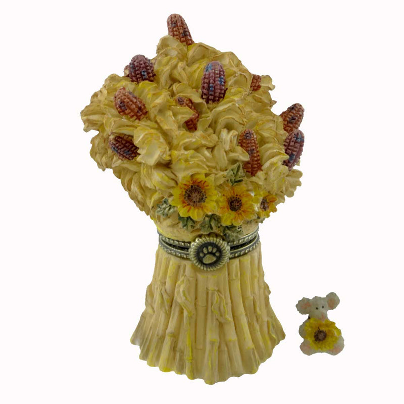 Boyds Bears Resin Sunny's Stalks With Corny Treasure Box