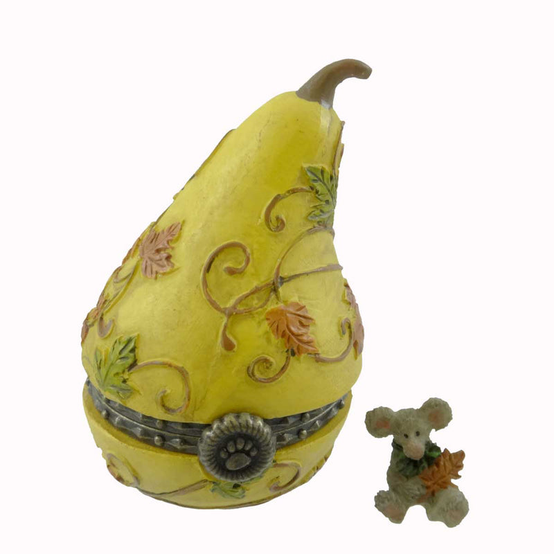 Boyds Bears Resin Aubrey's Gourd With Oakley Treasure Box