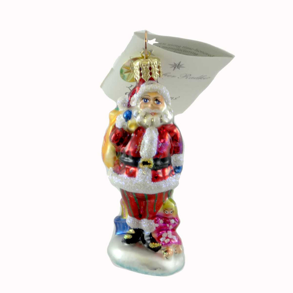 Christopher Radko Jolly Ringer Gem Glass Ornament