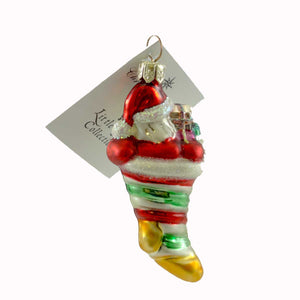 Christopher Radko Put The Loot In The Boot Gem Glass Ornament