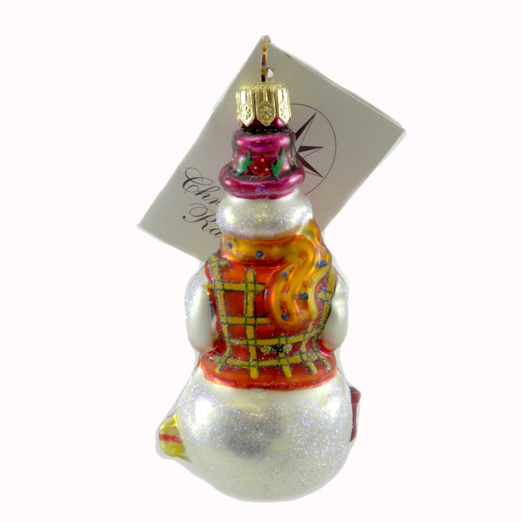 Christopher Radko Professor Frosty Jr Glass Ornament