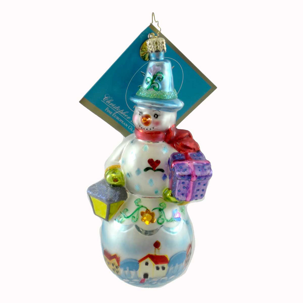 Christopher Radko Snowguide Glass Ornament