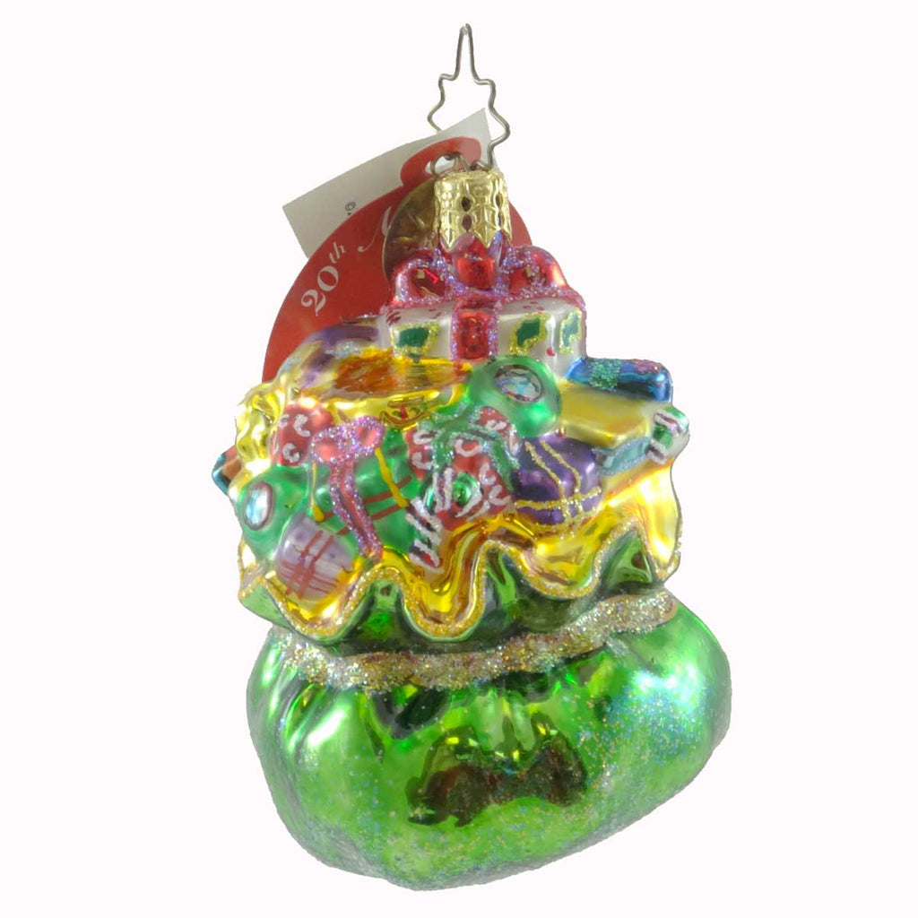 Christopher Radko Bulging Bundle Gem Glass Ornament