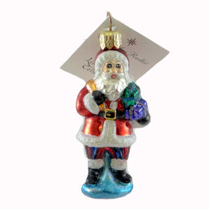 Christopher Radko Santa Joy Gem Glass Ornament