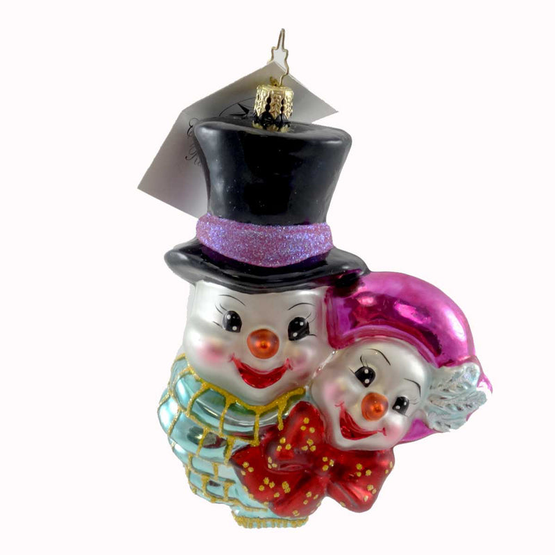 Christopher Radko Snomeo And Yuliet Glass Ornament