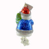 Christopher Radko Snow Chime Santa Glass Ornament