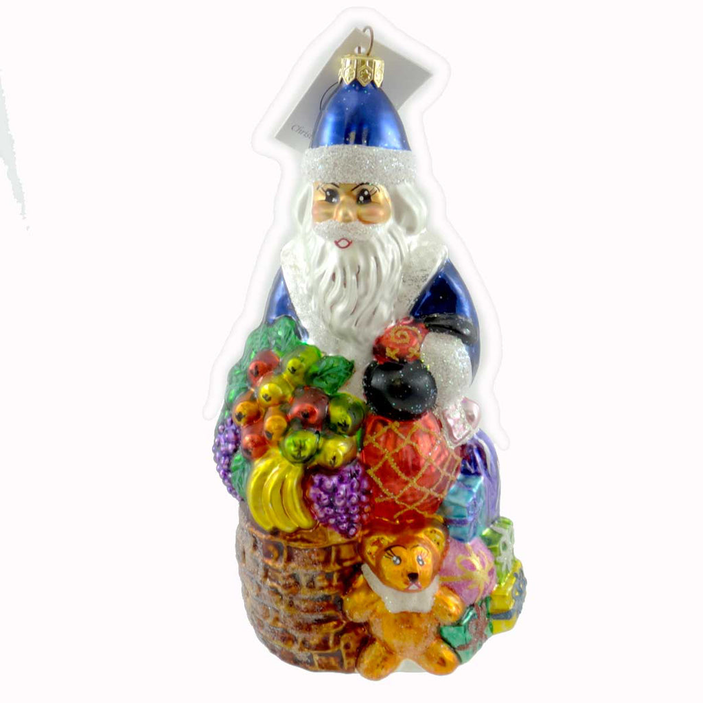 Christopher Radko Santa Delivers Glass Ornament