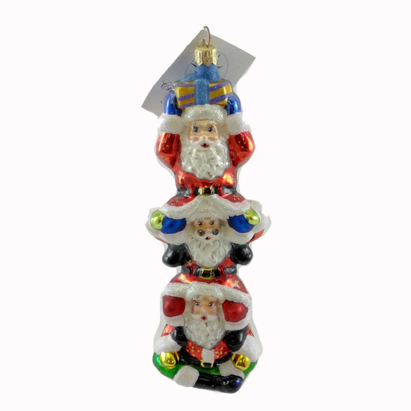 Christopher Radko Santa Bonanza Glass Ornament