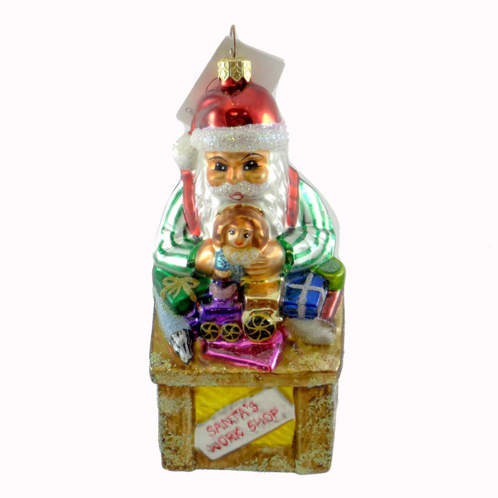 Christopher Radko Santas Workshop Glass Ornament