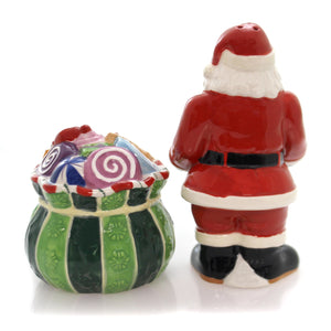 Christopher Radko Splendid Santa Salt & Pepper Christmas Tabletop