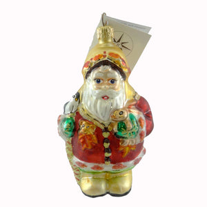Christopher Radko Frosty Leaf Jr Glass Ornament