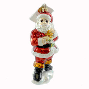 Christopher Radko Snacktime Santa Glass Ornament