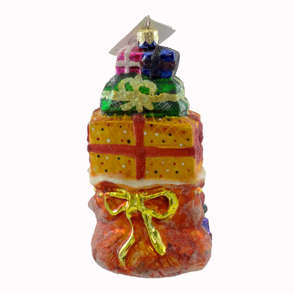 Christopher Radko Piled Mile High Glass Ornament