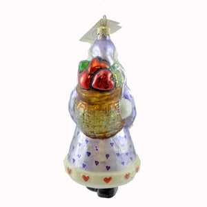 Christopher Radko Candy Santa Glass Ornament