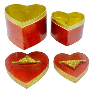 Christopher Radko Red Heart Boxes Storage Box