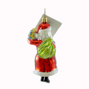 Christopher Radko Ring-A-Ding Santa Glass Ornament
