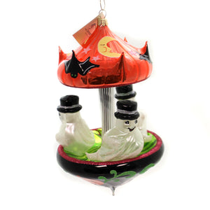 Laved Italian Ornaments GHOST CAROUSEL Glass Halloween Pumpkin CAR012