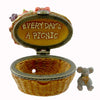 Boyds Bears Resin Emily's Picnic Basket W/ Dagwood Mcnibble Treasure Box