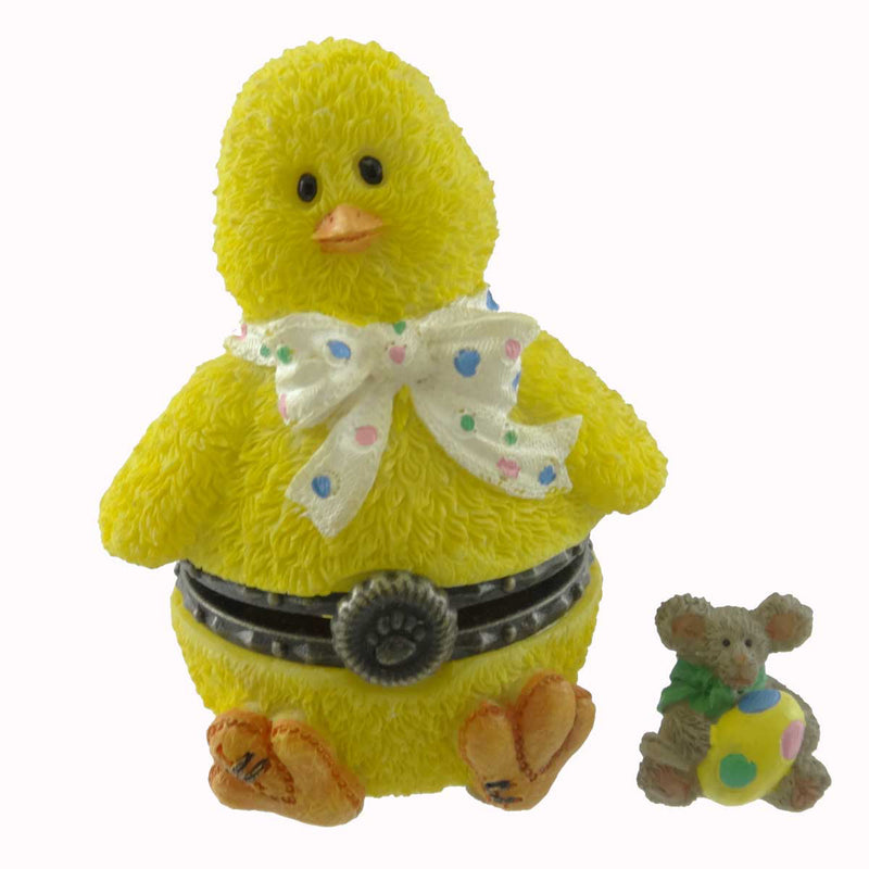 Boyds Bears Resin Lily's Chick With Eggbert Mcnibble Treasure Box