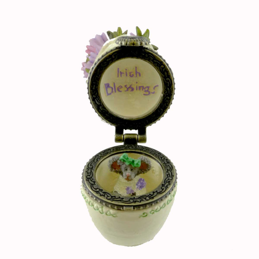 Boyds Bears Resin Heather's Bouquet With Sprig Mcnibble Treasure Box
