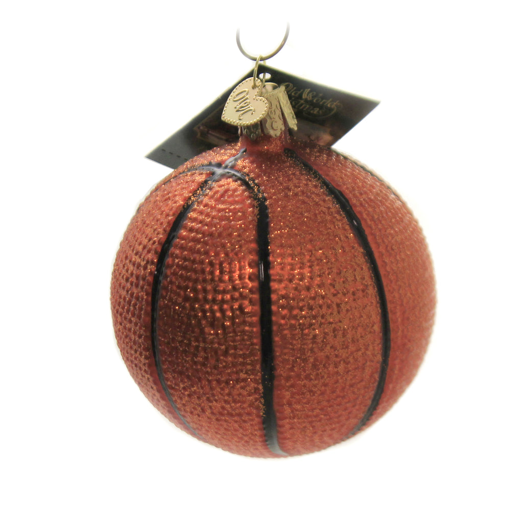 Basketball Ornament 44010 Old World Christmas Glass Ornaments - SBKGIFTS.COM - SBK Gifts Christmas Shop Cincinnati - Story Book Kids